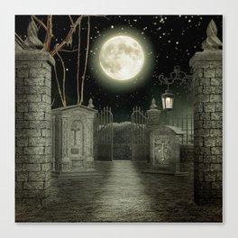 Graveyard #3 * cemetary graveyard tombstone spooky Canvas Print