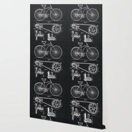 Vintage Bicycle patent illustration 1890 Wallpaper
