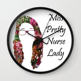 Miss Pretty Nurse Lady Wall Clock