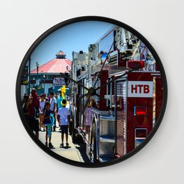 HB Community (Surf City USA) Wall Clock