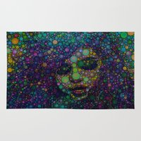 selena gomez Area & Throw Rugs featuring Beautiful Selena  by Amy Anderson