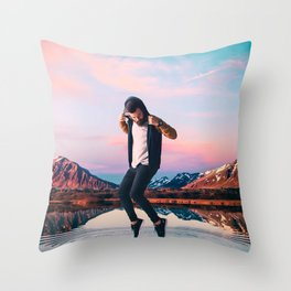 Standing on the Water Throw Pillow