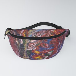 canvas painting wild orchid Fanny Pack