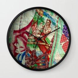 Vintage Hawaiian Quilt Scrap Wall Clock