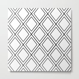 ᚖ NOIR SERIES ᚖ  - Ethnic Chic Pattern Metal Print