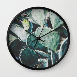 Wild cactus Wall Clock