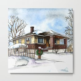 A Bungalow in the Country Metal Print