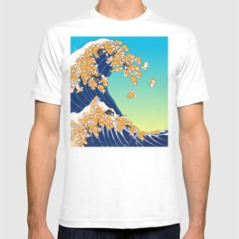 Shiba Inu in Great Wave T-shirt