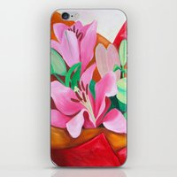 valentines iPhone & iPod Skins featuring Valentines Bouquet by marlene holdsworth