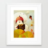 birdman Framed Art Prints featuring Birdman by Squizzato