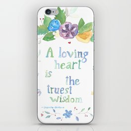 Quote for Life iPhone Skin