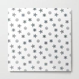 black and white Scandinavian Christmas Prints patterns Metal Print