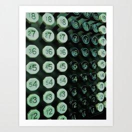 Burroughs Adding Machine Art Print