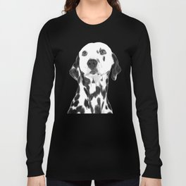 Black and White Dalmatian Long Sleeve T-shirt