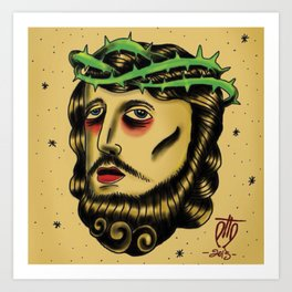 god tattoo Art Print
