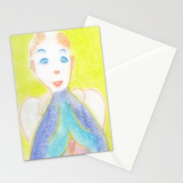 Spiritual Chalks Drawing of Pope Saint John Paul II Stationery Cards