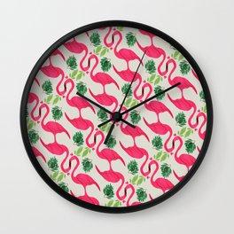 Pink flamingo Favola Wall Clock