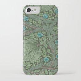 William Morris Art Nouveau Forget Me Not Floral iPhone Case