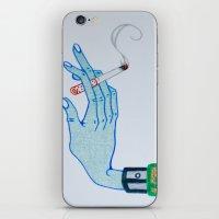 cigarette iPhone & iPod Skins featuring Cigarette by Grant Czuj