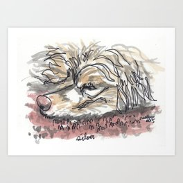 Silver - The Dog Portrait Series Art Print