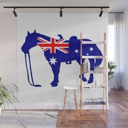 Australian Flag - Horse Wall Mural