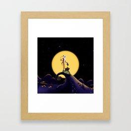 Christmas Nightmare Jack Skellington Framed Art Print