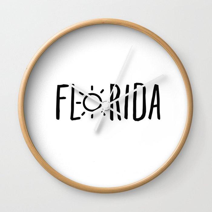 Florida Sun Wall Clock