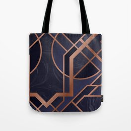 Violet Art Deco Tote Bag