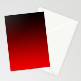 Black Red Neon Nights Ombre Stationery Cards