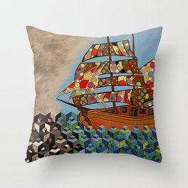 The Ship Brings The Light Throw Pillow