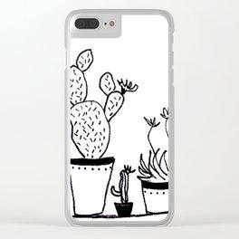Cactus 54 Clear iPhone Case