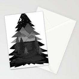 mountainous tree Stationery Cards