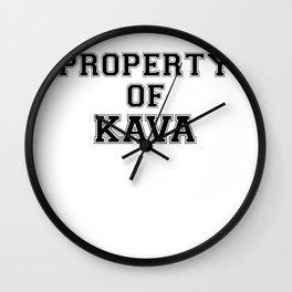Property of KAVA Wall Clock