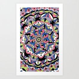 Round She Goes Art Print