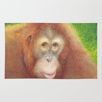 monkey Area & Throw Rugs featuring Monkey by irshi