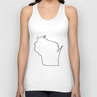 wisconsin Tank Tops featuring Wisconsin by mrTidwell