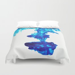 Ink Abstract - Blue Duvet Cover