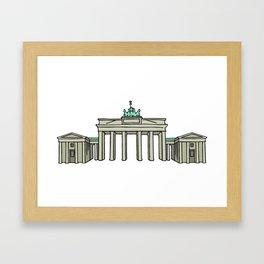 Brandenburg Gate in Berlin Framed Art Print