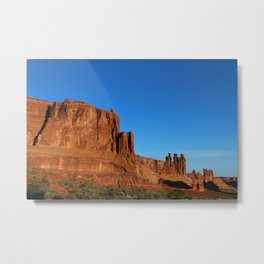 Red Sandstone Landscape of the Arches Park Metal Print