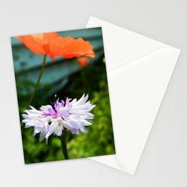 centaurea cyanus and papaveroideae Stationery Cards