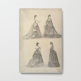 The Latest French Fashions from The Queen, The Lady's Newspaper and Court Chronicle,January 7, 1871 Metal Print