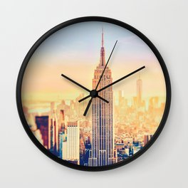 New York City Sunset Glow Wall Clock