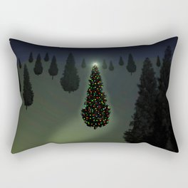 Christmas Tree Green Rectangular Pillow