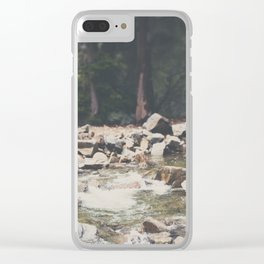 Lake Tahoe mountain river photograph Clear iPhone Case