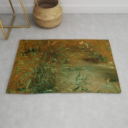 "John Constable ""Rushes by a pool"" Rug"