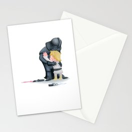 enemies hug I Stationery Cards