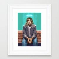 kurt rahn Framed Art Prints featuring Kurt by David Belliveau