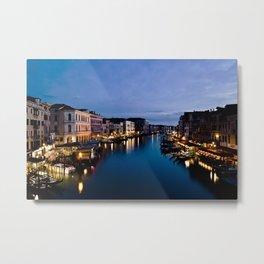 Amazing  Venice  Italy  travel  wanderlust, blue sea canals, night in Venice   canal  bridge  tour Metal Print