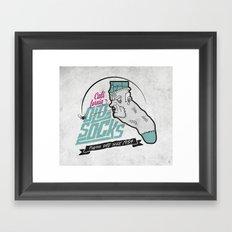 California Old Socks Framed Art Print