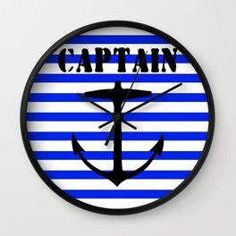 Captain and anchor logo Wall Clock